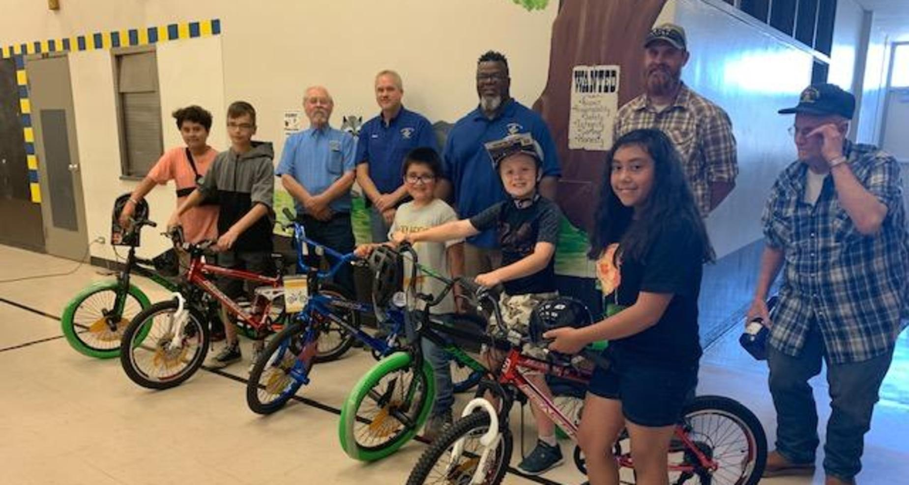Bikes for Books--Masons Donate Bikes to Students