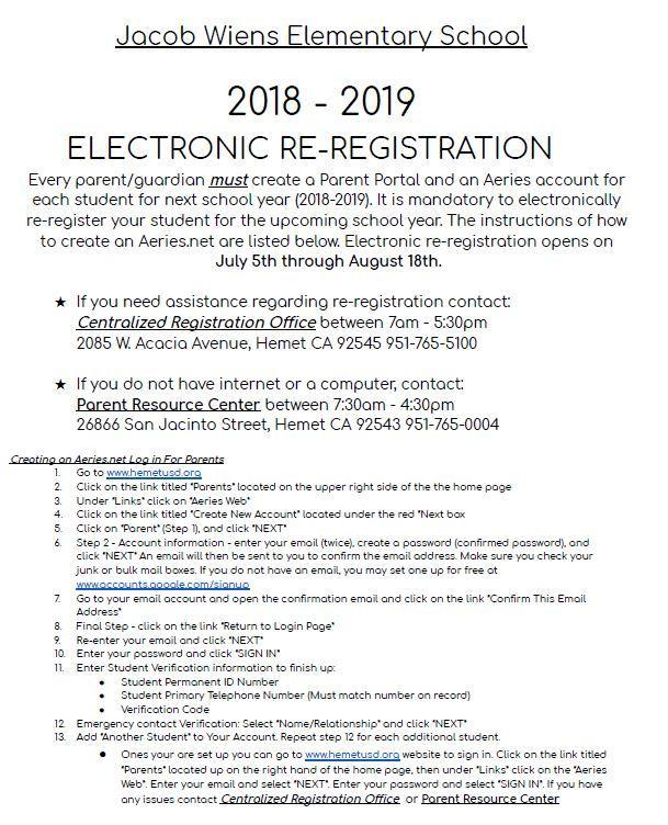 Electronic Re-Registration Featured Photo