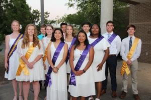 Pictured are the 2019 B-L High School Junior Marshals and Junior Ushers. Front row left to right:  Susan Taylor, Maria Reyes-Villaseca, Tamara Jimenez Second row left to right: Morgan Price, Aliyah Shealy, Hannah Derrick, Diavionne Preston Third row left to right: Dalton Oswalt, Daniel Miranda-Pereyra, Loring Todd, Reece Rawls, Joshua Tucker