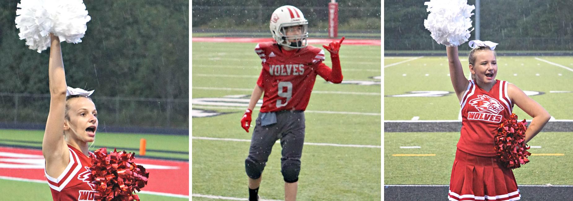 football and cheerleading