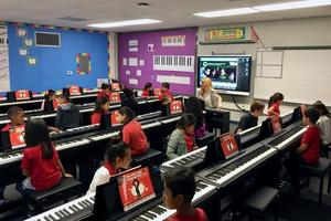 Students Practice in New Piano Lab