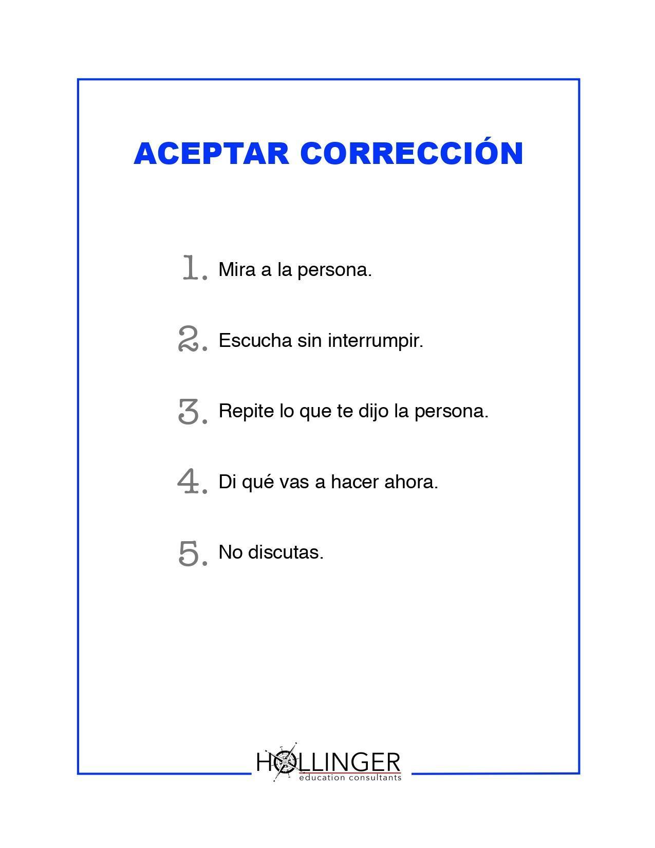 Project RESSPECT: Aceptar Corrección