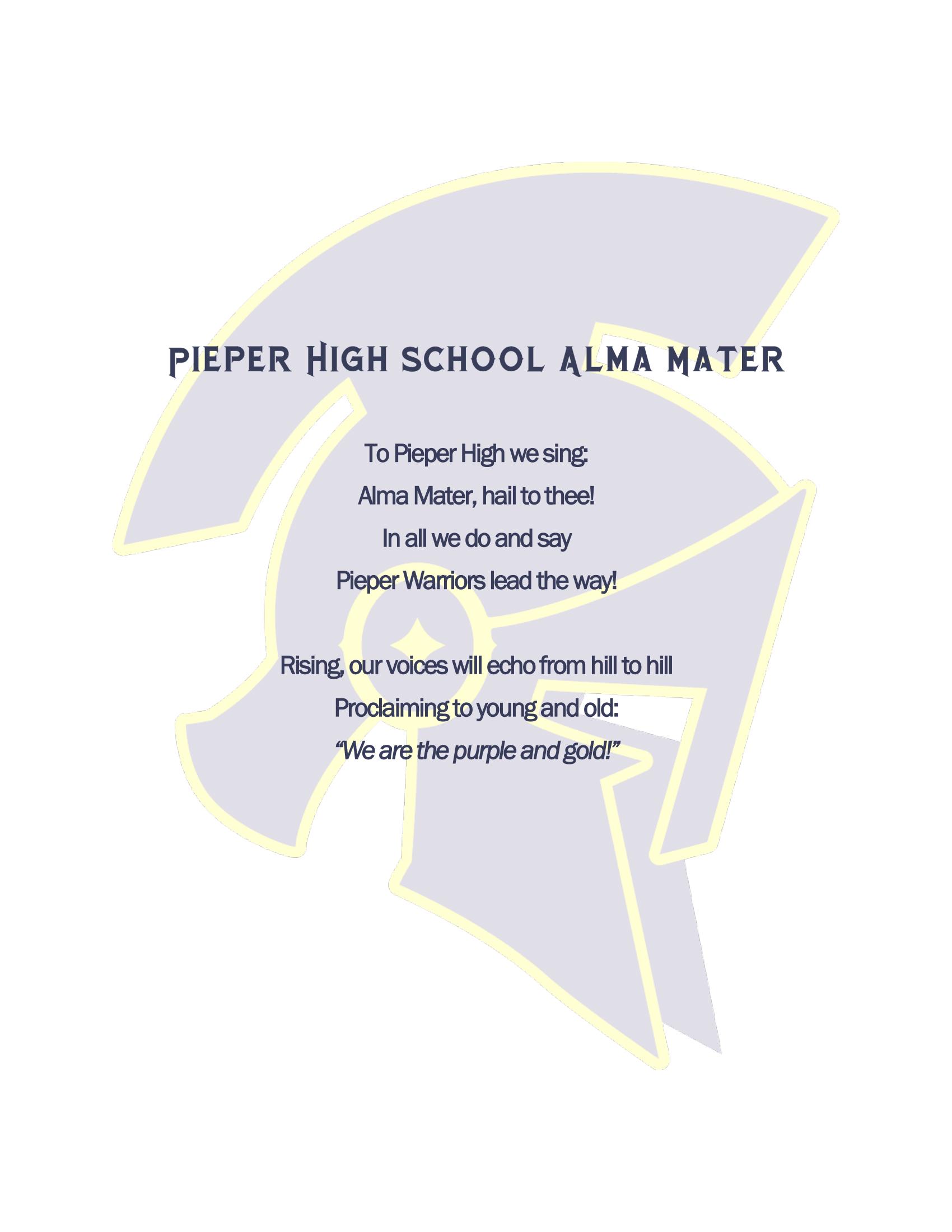 PHS Alma Mater