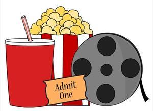 Snacks and movie reel