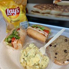 Buffalo Sandwich with Mac Salad