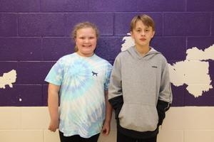 Congratulations to B-L Middle School students Rylee Robertson (left) and Sawyer Shull (right) for achieving perfect scores on the math portion of the South Carolina College-and Career-Ready (SC READY) assessment that they took back in May.
