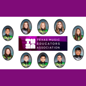 10 students in band uniform