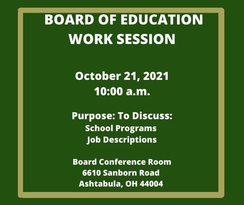 Board of Eduction Work Session October 21, 2021 Featured Photo