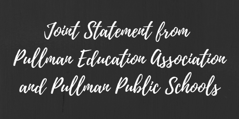 Joint Statement from Pullman Education Association and Pullman Public Schools Thumbnail Image