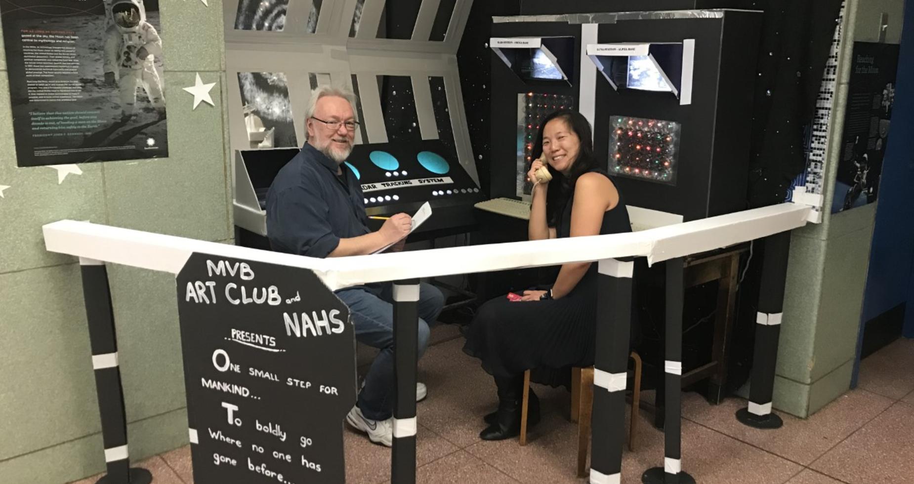 Martin Van Buren sets up to link with NASA. Thank you Ms. Wang.