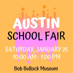 Yellow & Pink Austin School Fair Logo