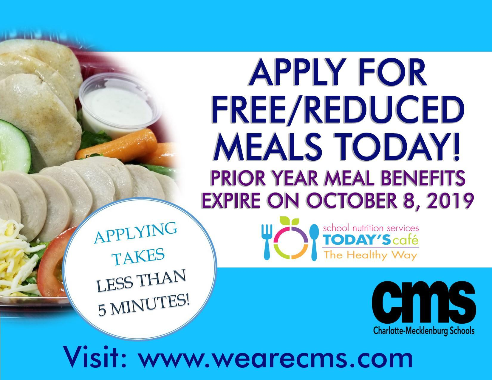 Free & Reduced Meals Deadline Flyer