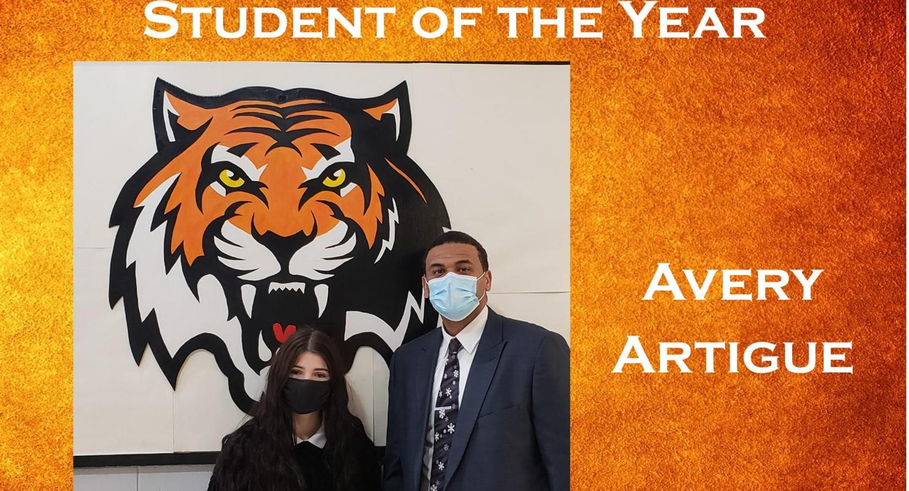 Student of the Year Avery Artigue