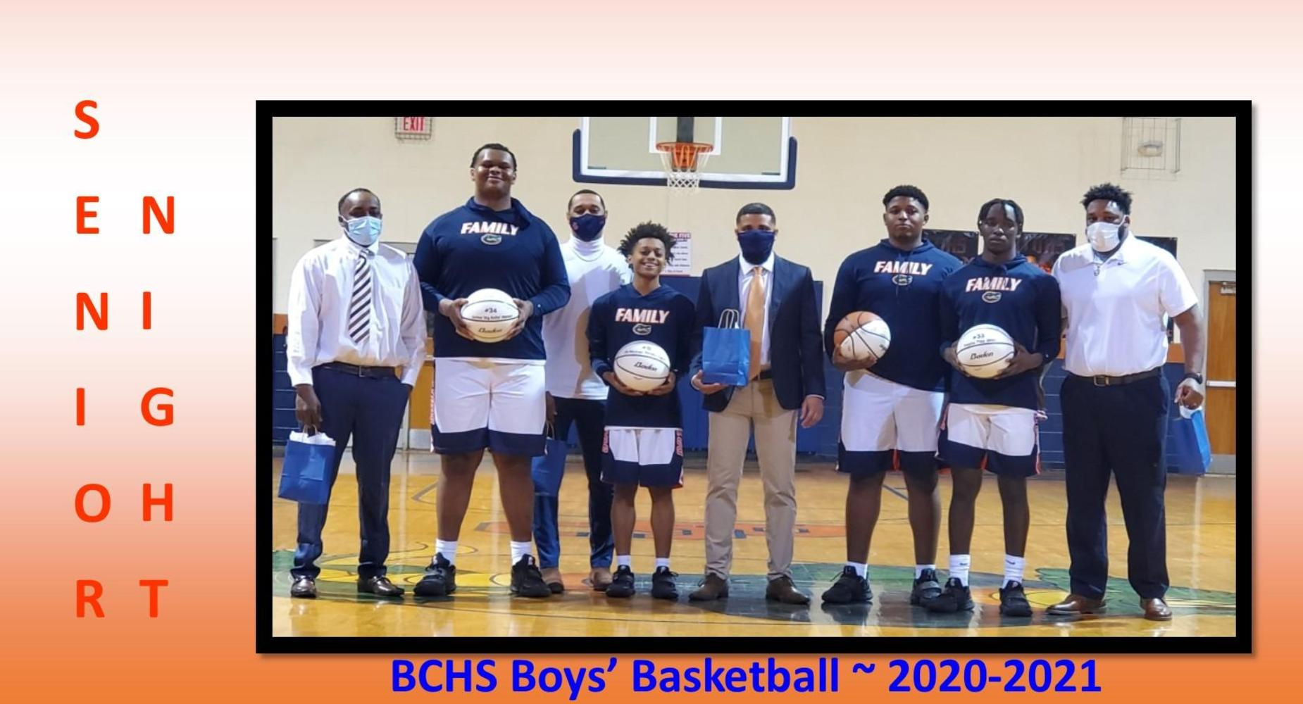 BCHS Boys' Basketball Senior Night - 2-9-2021