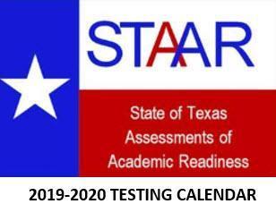 2019-2020 TESTING CALENDAR
