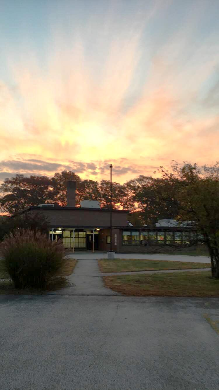 sunrise over Davisville Academy
