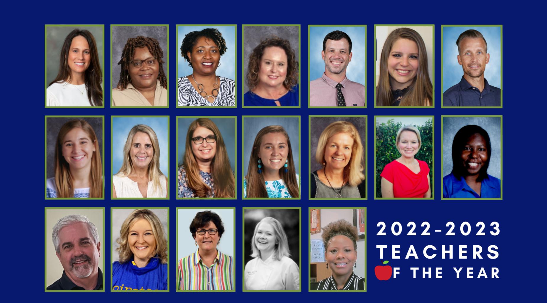 2022-23 Teachers of the Year
