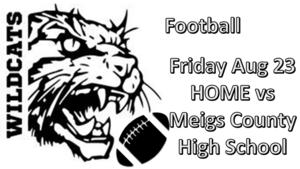 SHS football Friday Aug 23 HOME vs Meigs County High School
