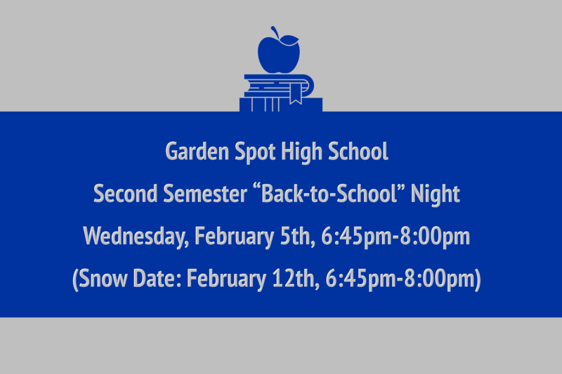 Garden Spot High School Back-to-School Night Image Post