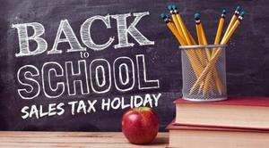 Back to School Supply Sales Tax Weekend