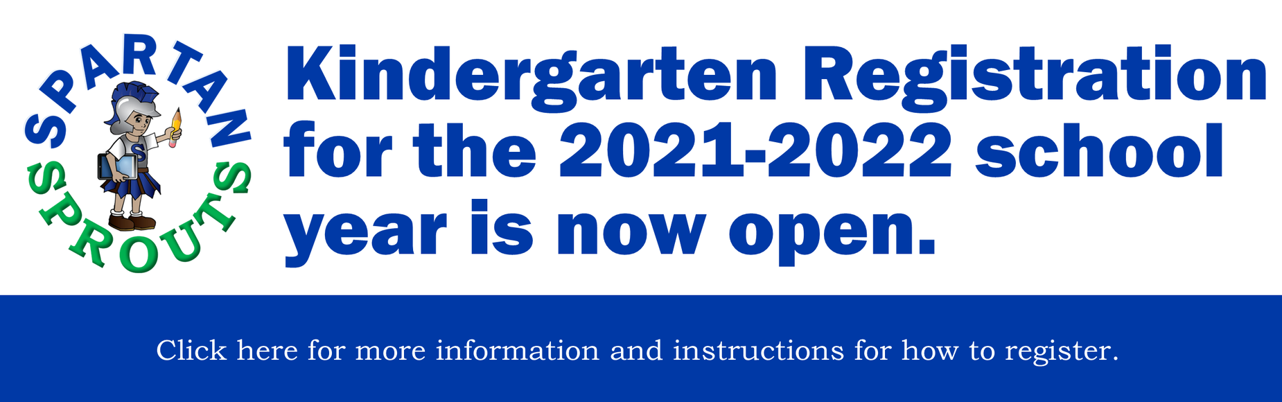 Kindergarten Registration 21-22 Open Banner Image