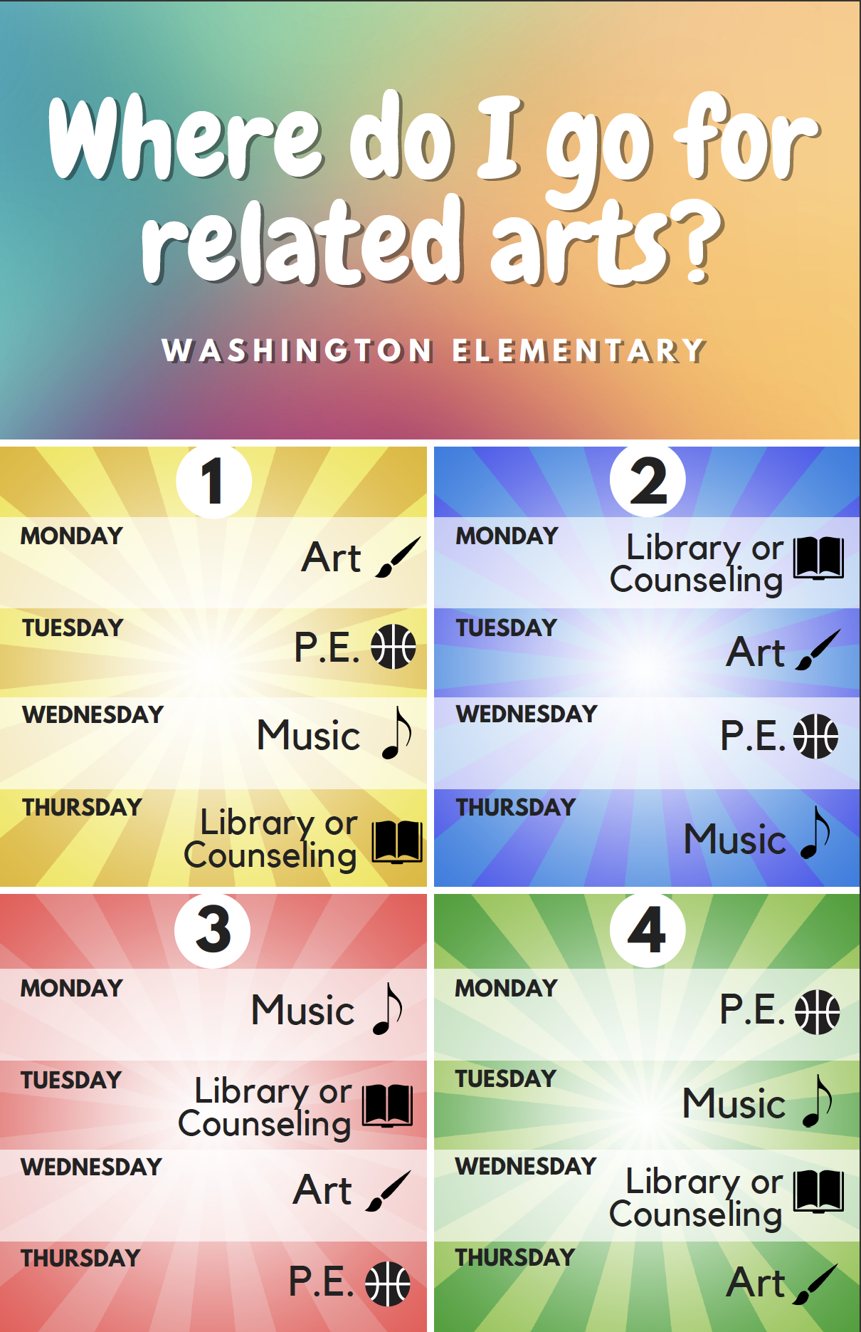 GWES Related Arts Schedule