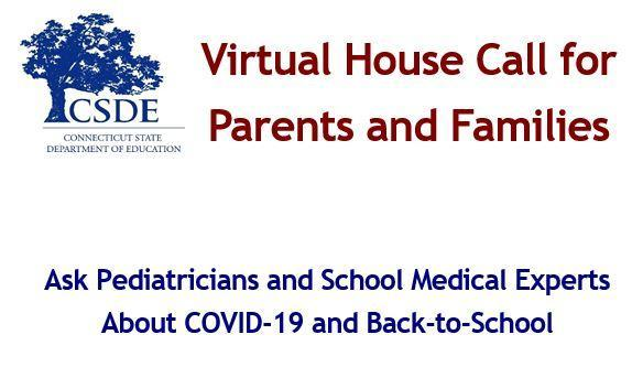 Families – Ask Pediatricians and School Medical Experts About COVID-19 and Back-to-School, this Thursday, August 13 from 5-6PM Thumbnail Image