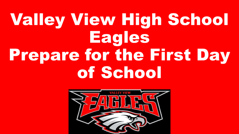Slide Image of First Day of School for Eagles