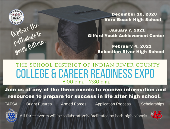 THE SCHOOL DISTRICT OF INDIAN RIVER COUNTY INVITES STUDENTS AND FAMILIES TO COLLEGE AND CAREER READINESS EXPO Featured Photo