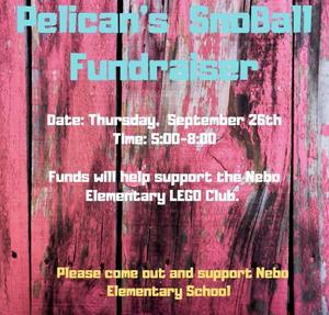 Nebo Pelicans Fundraiser Flyer Sept 26th 5:00-8:00.