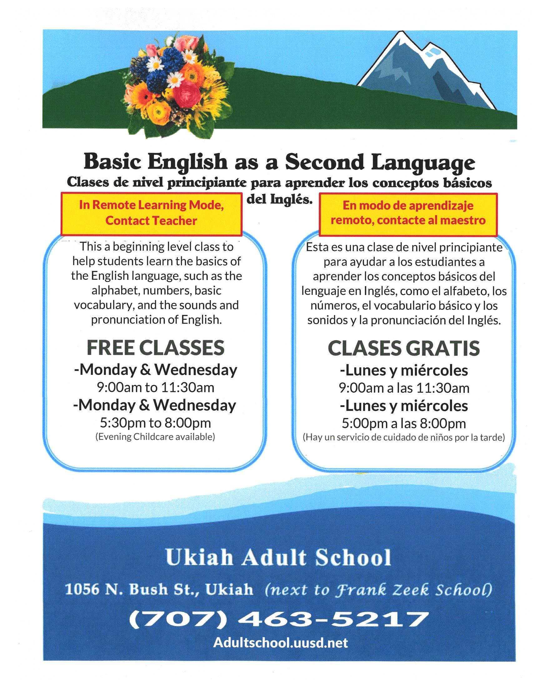 English as a Second language in Remote ?learning Mode Poster