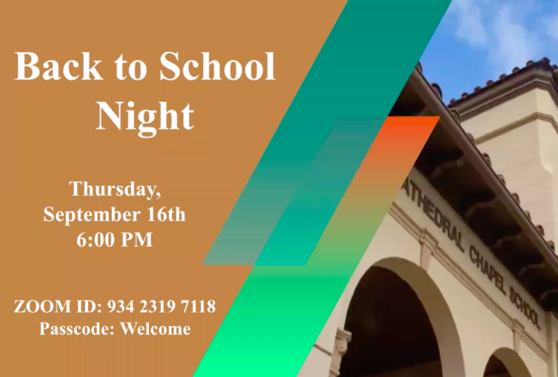 Cathedral Chapel School Back to School Night Featured Photo