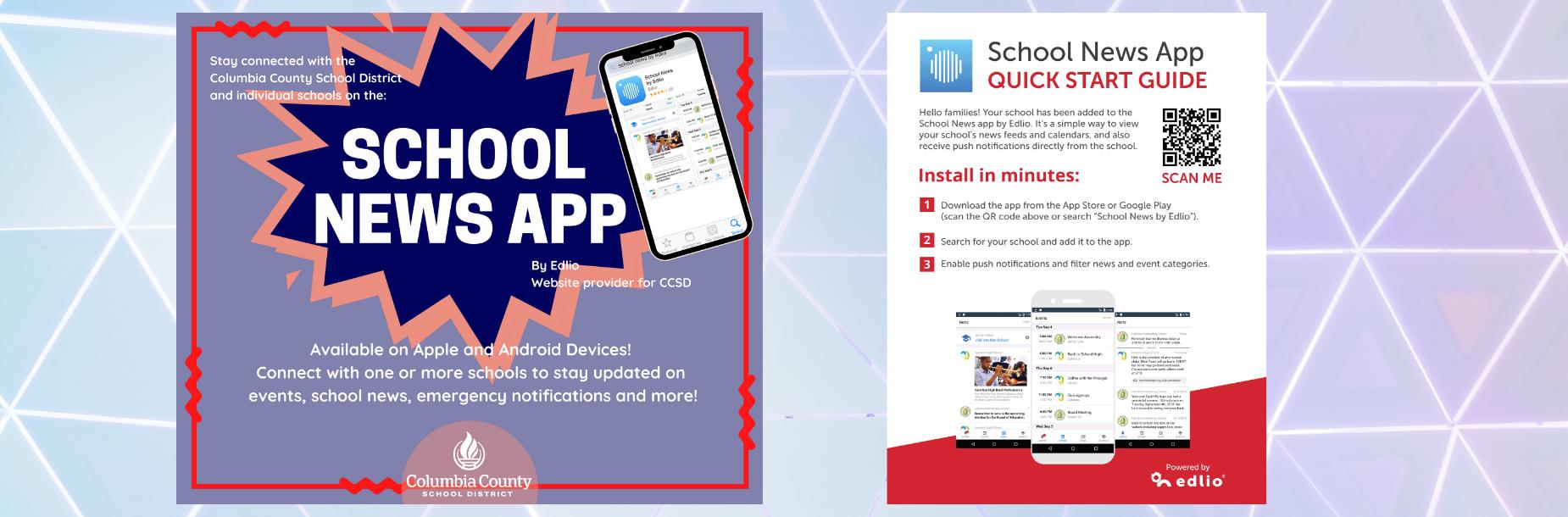 School News App QR Code and information