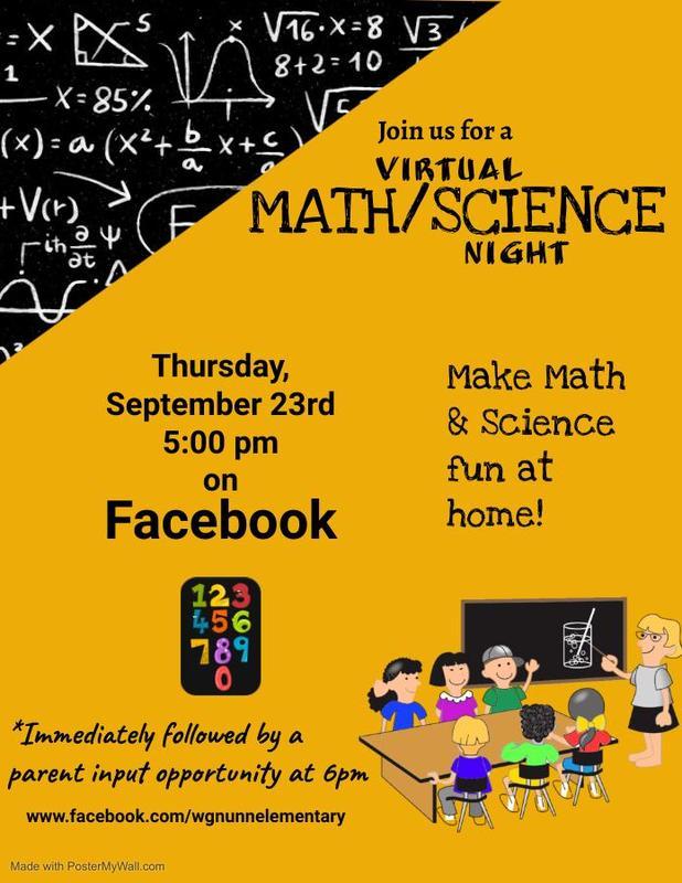 Math flyer