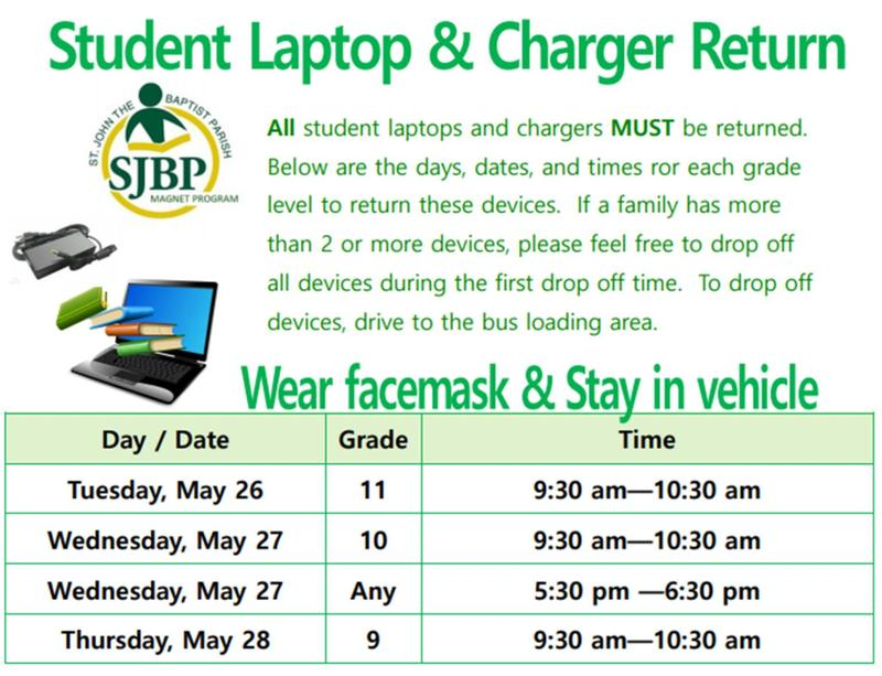 Student Laptop and Charger Return Thumbnail Image