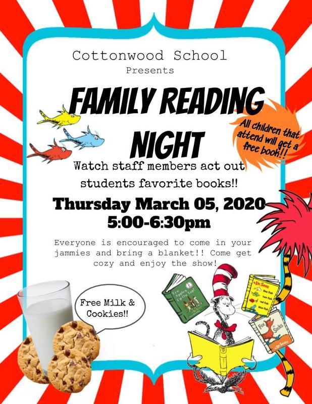 Family Reading Night Flyer