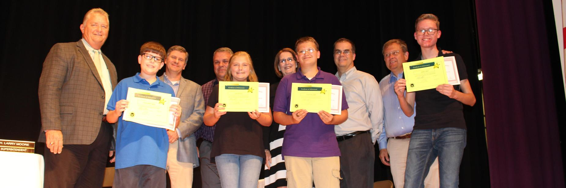 JCSB Student's with Perfect Scores
