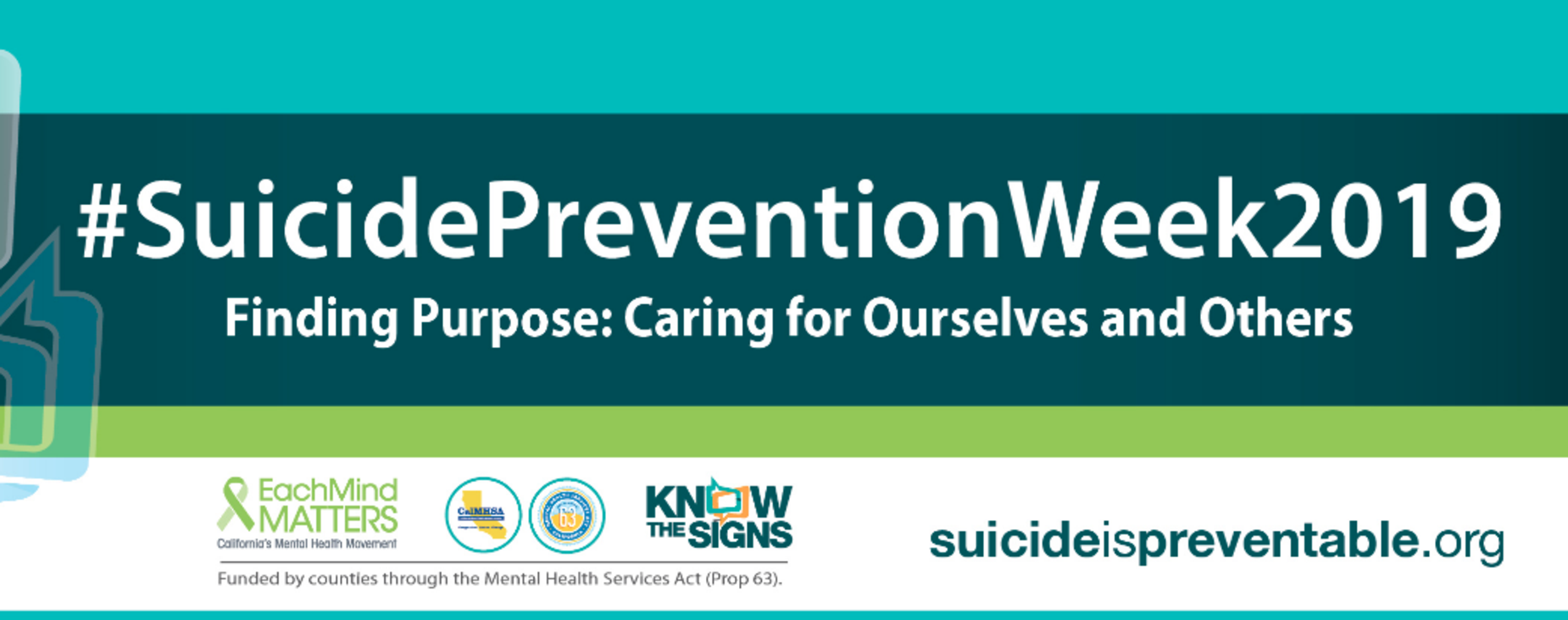Suicide Prevention Week 2019 graphic