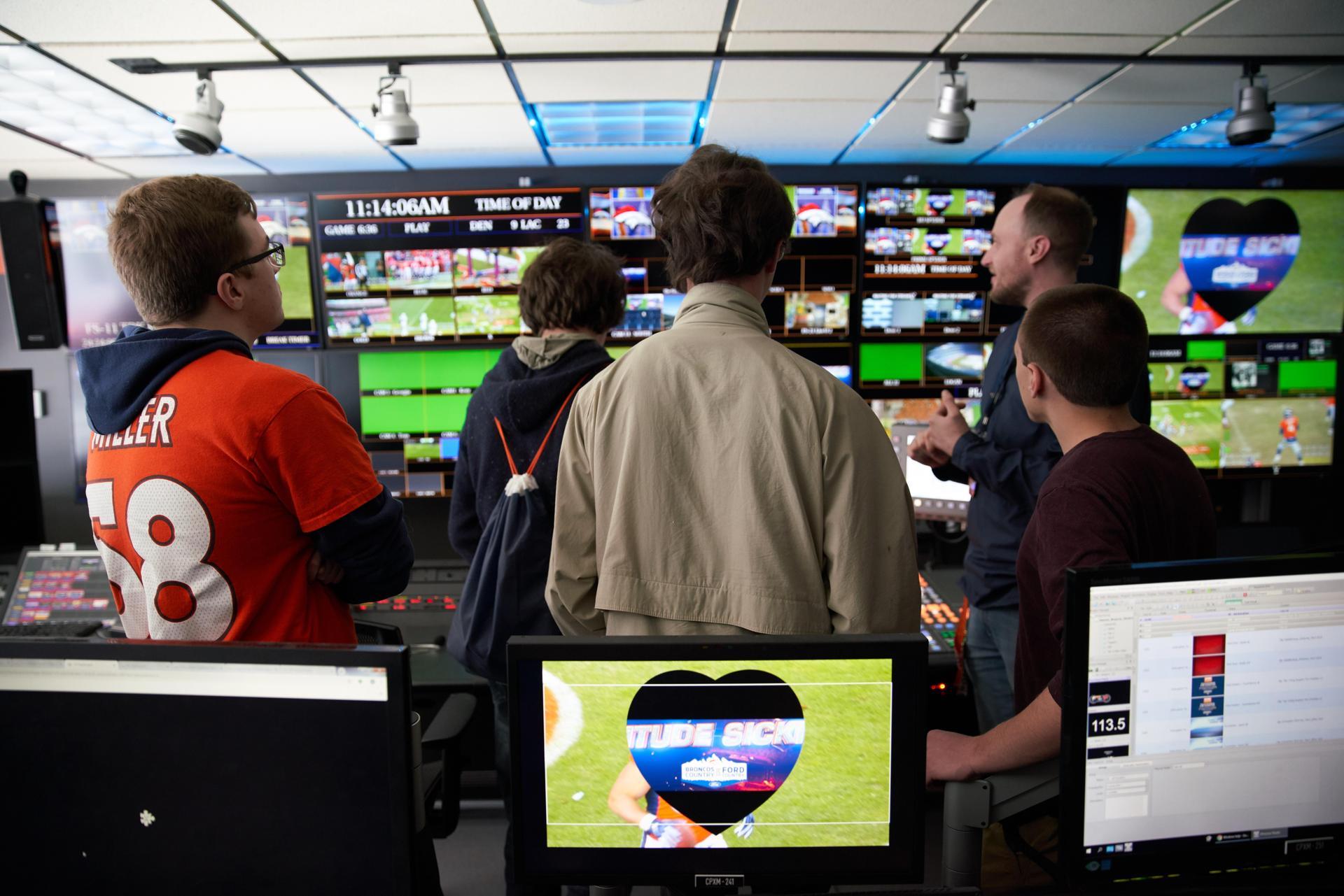 Inside Broncos control room
