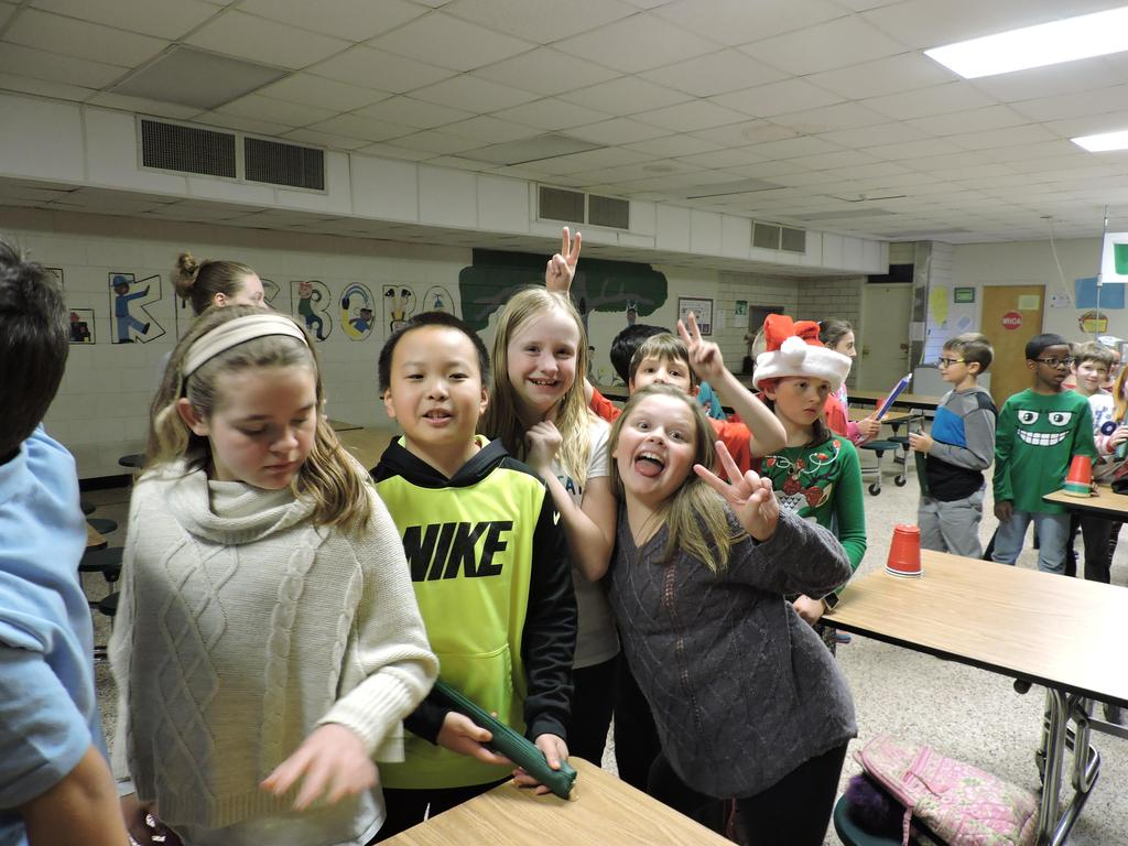 Students waiting in line for PTO to begin