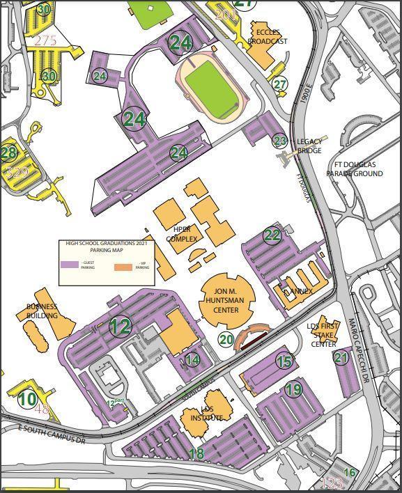Graduation Parking Map