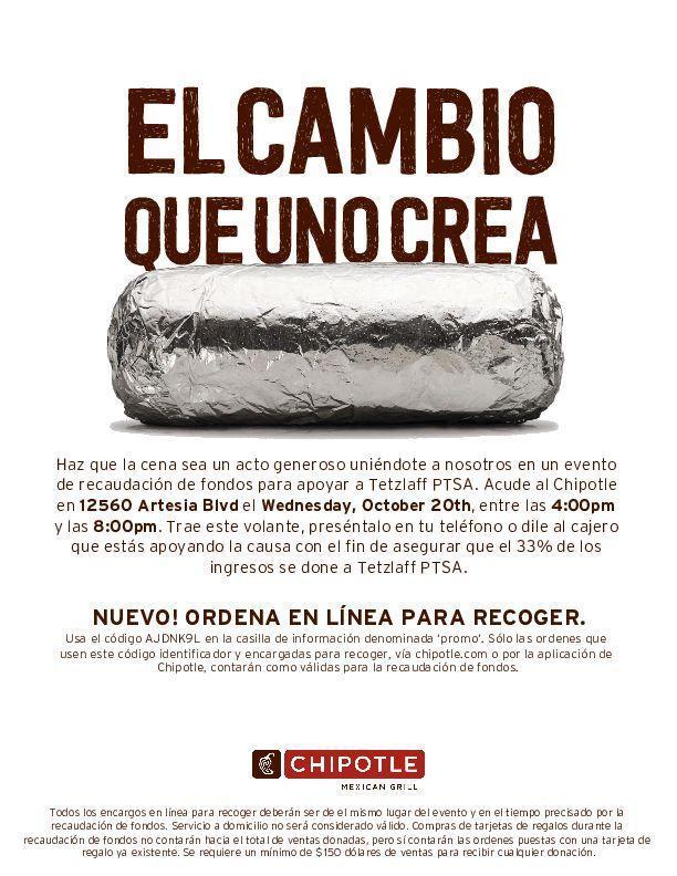 Chipotle Flyer-Spanish
