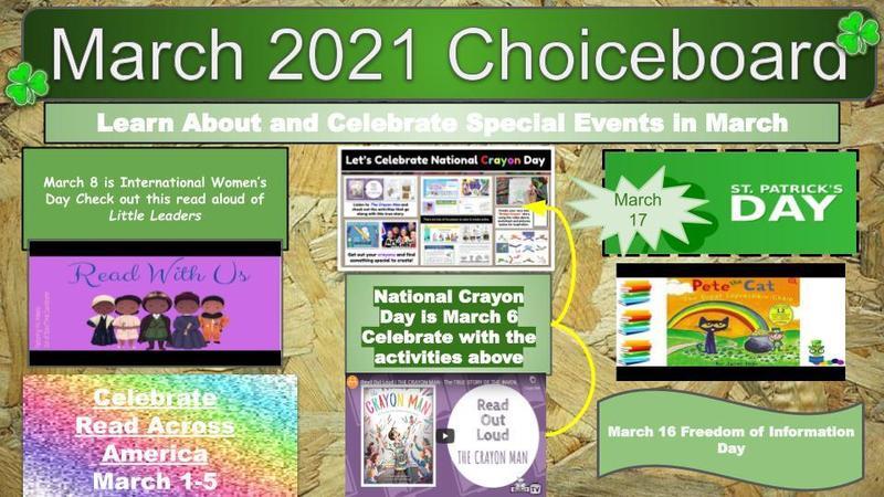 March 2021 Boardchoice / Tablero de Marzo 2021 Featured Photo