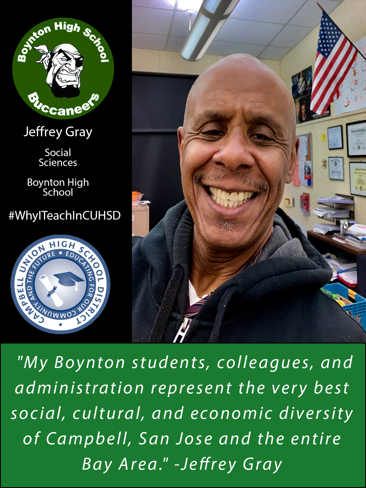 Jeffrey Gray- Why I teach in CUHSD