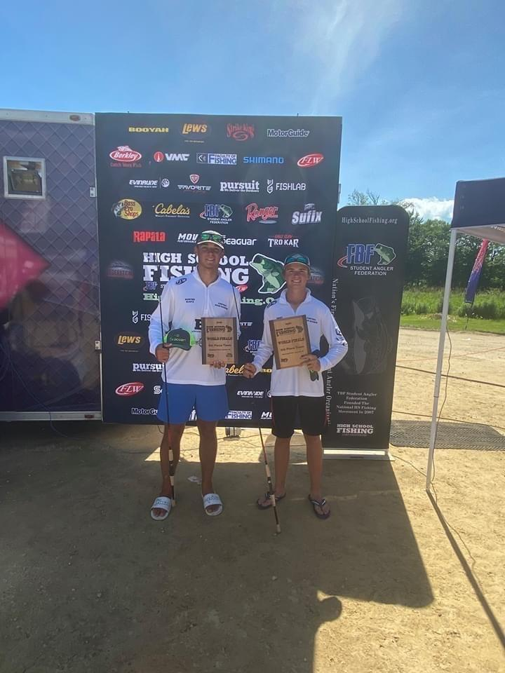 Klotz and Brumbaugh place 10th in HS World Fishing Tournament
