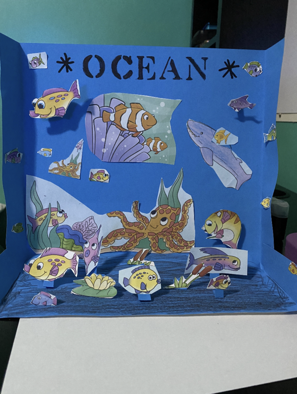 Ocean project on table