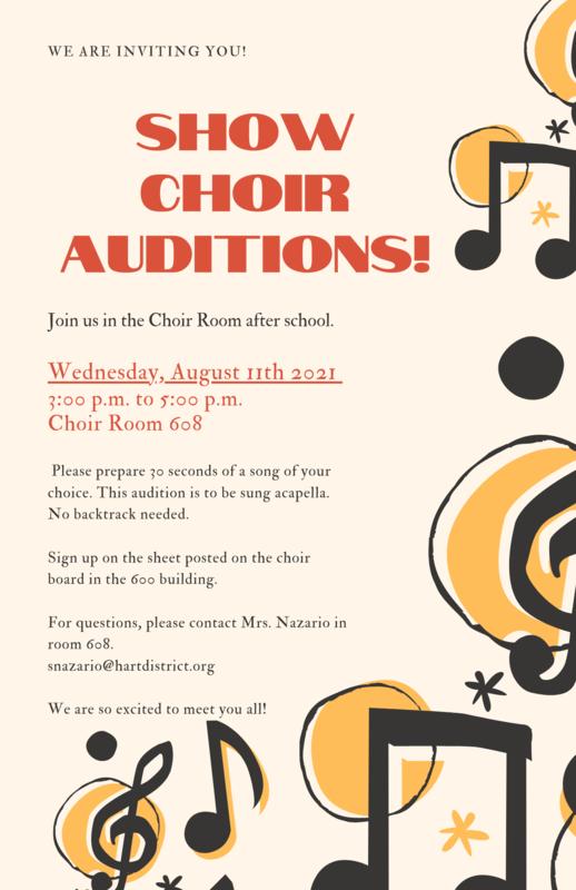 GV 2021-22 Show Choir Auditions Announced Featured Photo