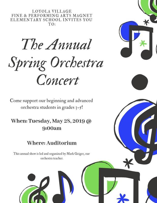 Save the Date: Annual Spring Orchestra Concert 5/28/19 Thumbnail Image