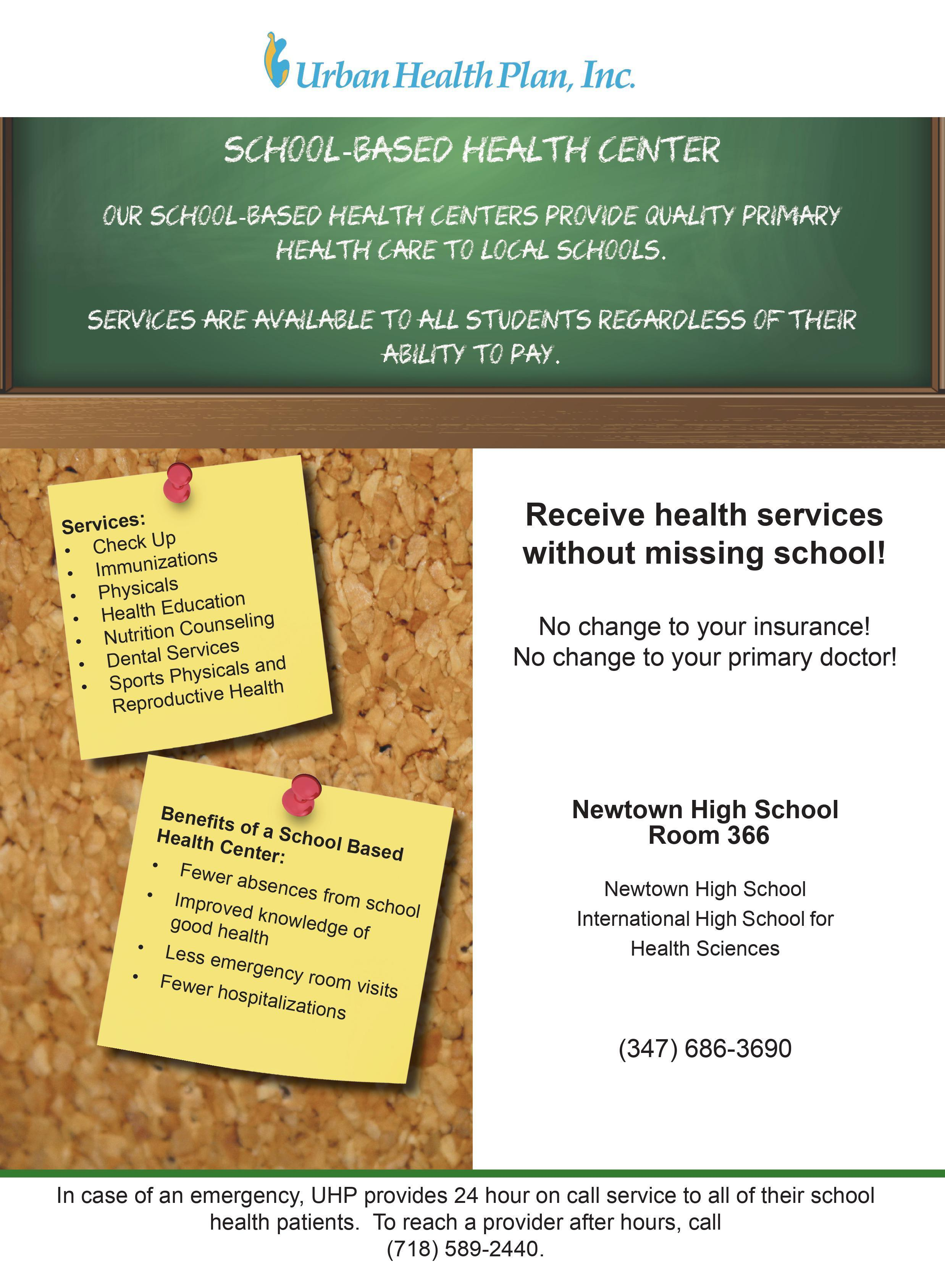 School-Based Health Center provides quality primary health care regardless of ability to pay. Call 34796863690 for more information.