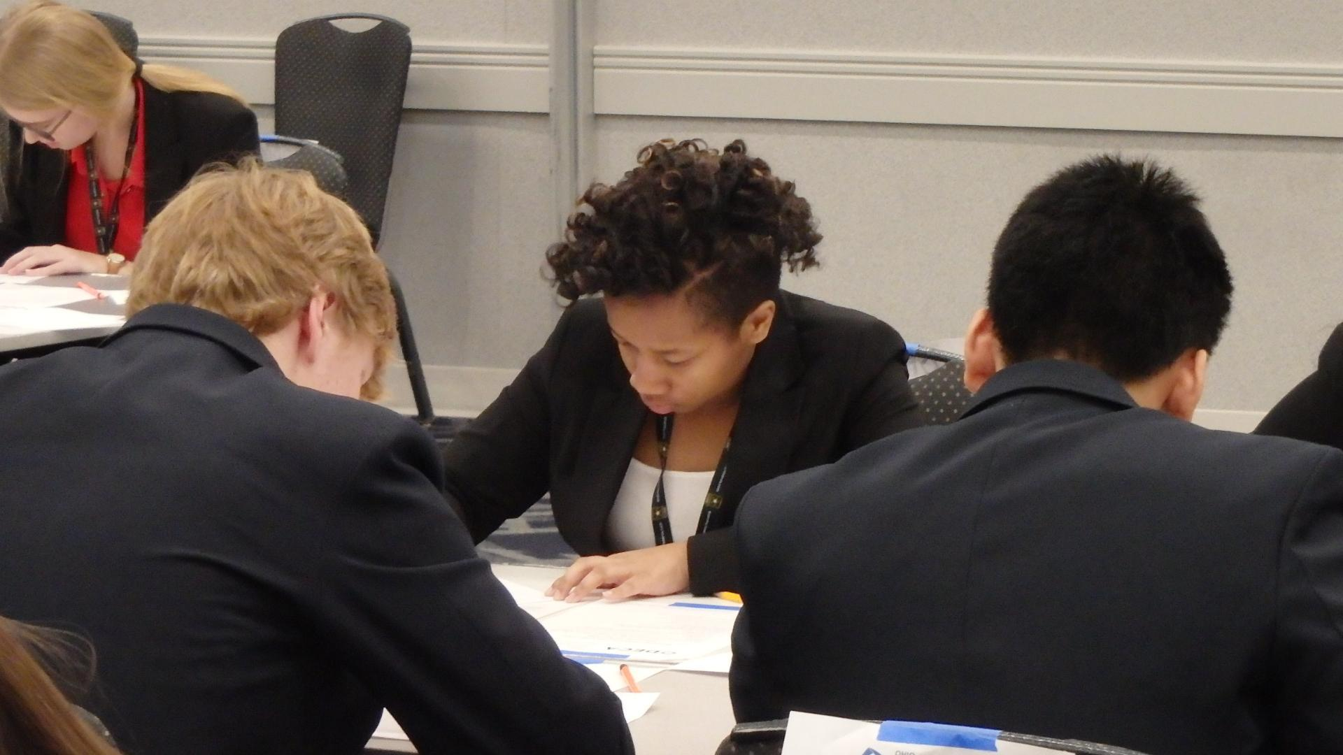 Mya at DECA Competition, 2019
